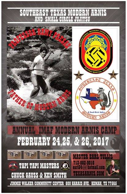 Annual Texas IMAF Modern Arnis Camp 2017 @ Jimmie Walker Community Center